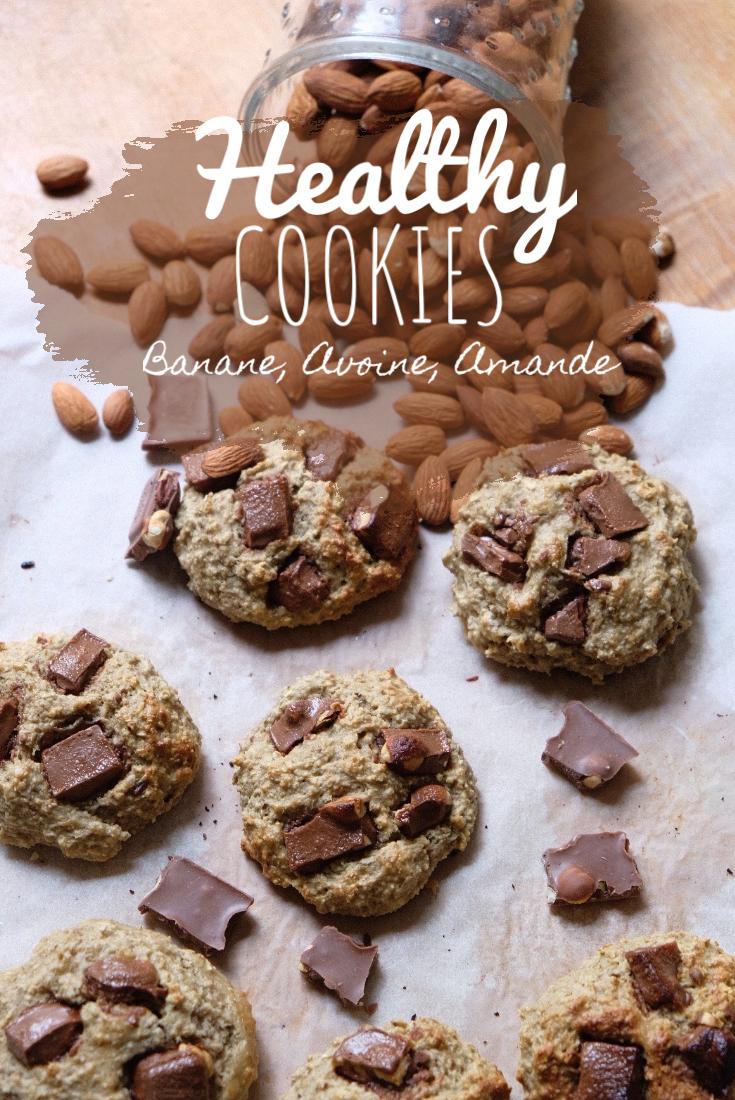 RECETTE #2: Healthy cookies Banane, avoine,amande